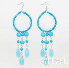 Wholesale beautiful turquoise drop shape earrings
