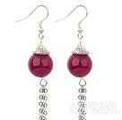 Wholesale pink agate earrings