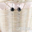 Wholesale stunning 12mm agate ball long earrings