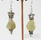 Wholesale three color jade earrings