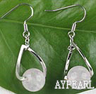 favourite 10mm rose quartze ball earrings