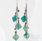 Wholesale long style blue jasper earrings