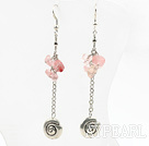 Wholesale long style cherry quzrtze earrings