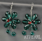 Fashion Style Peacock Series Peacock Crystal Flower Earrings