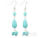 Wholesale burst pattern turquoise dangle earrings