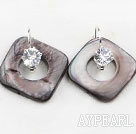 Wholesale noble rhinestone and shell earrings