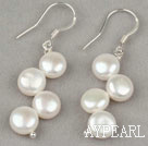 Wholesale New Design 7-8mm Mabe Pearl Bridal Earrings