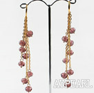 Wholesale gorgeous crystal long earrings on golden chain