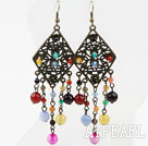Wholesale Vintage Style Assorted Multi Color Agate Earrings
