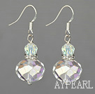 Fashion Sparkle Ab Crystal Ball Dangle Earrings With Fish Hook