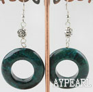 Wholesale 6*30mm phoenix loop stone earrings