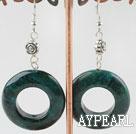 Wholesale 6*30mm phoenix loop stone earrings