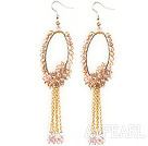 popular 20mm candy brown color acrylic ball earrings