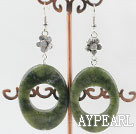 Wholesale 30*40mm chunky style gemstone earrings