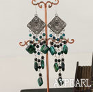 Wholesale vintage style phoenix and balck agate earrings