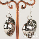 fashion metal jewelry CCB silver like heart shape earrings