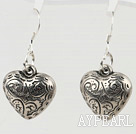 metal jewelry heart shape alloy earrings