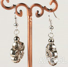 Lovely Flower Shape Alloy Charm Dangle Earrings With Fish Hook