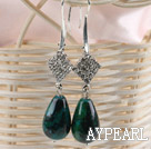 Wholesale noble drop phoenix stone earrings with rhinestone
