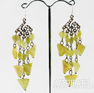Wholesale chandelier shape vintage style faceted lovely South Korea jade earrrings