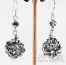 Wholesale dangling colorful crystal ball earrings