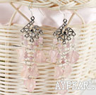 Wholesale chandelier shape favourite vintage style pink agate earrings