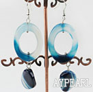 Wholesale lovely blue agate earrings