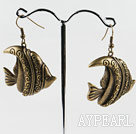 lovely  tropical fish shape copper earrings