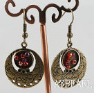 lovely round copper earrings
