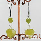 Wholesale lovely heart South Korea jade earrings