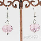 Wholesale 12mm faceted pink color crystal earrings