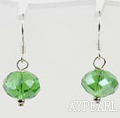 Wholesale 12mm faceted green crystal earrings