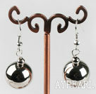 immitation silver ball shape CCB earrings