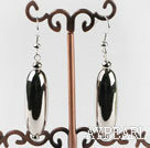 Lovely Long Melon Shape Shinning Ccb Silver Like Dangle Earrings With Fish Hook