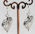 Fashion Heart Shape Tibet Silver Dangle Earrings With Fish Hook