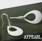 Wholesale fashion style drop shape big white lip shell earrings