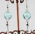 Wholesale dangling style 12mm faceted kyanite ball earrings