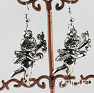 Wholesale lovely angle charm  tibet silver earrings