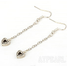Wholesale dangling style 14mm heart shape alloy earrings