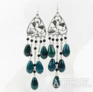 Wholesale New Style Black Agate and Phoenix Stone Earrings