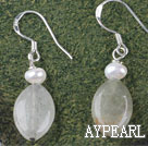 pearl serpentine jade earrings