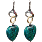 drop shape opal earrings