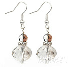 Wholesale Simple Manmade Transparent Crystal Ball Dangle Earrings With Fish Hook