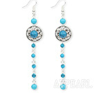 Wholesale dangling style turquoise earrings