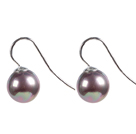 Lovely Simple Style Purple Colored Glaze Wraps Dangle Earrings With Lever Back Hook