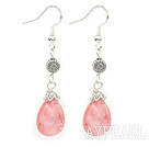 Wholesale drop cherry quartze earrings
