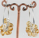 trendy manmade yellow faceted crystal hoop earrings
