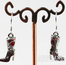 belle boucles d'oreille de mode botte rouge