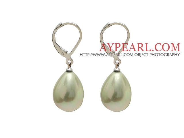 Tropfenform Ohrringe Hellgelbe Perlen Muschel Hellgelbe Tropfenform Muschel Perlen Ohrringe 54jLAR