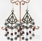 Hematite earring